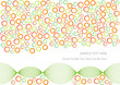 abstract vector background with gradient bubbles and waves