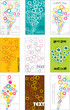 various vector business cards with colorful bubbles