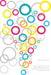 abstract vector background with colorful bubbles