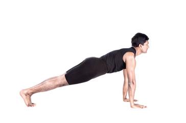 surya namaskar plank position