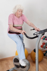 Female Doing Physical Exercise
