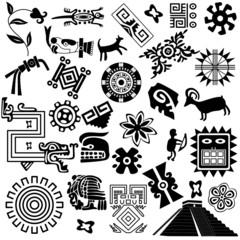 Ancient american design elements