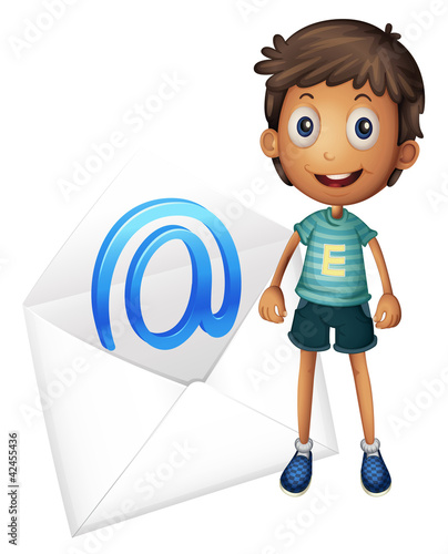 boy with envelop