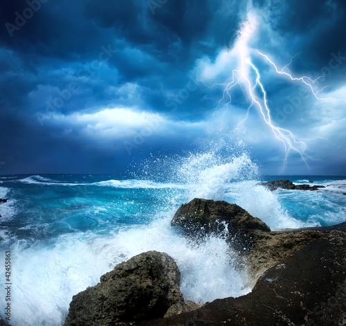 Leinwandbild Motiv Ocean Storm
