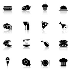 16 Icon Food black, Part 1