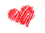 Fototapety coeur dessiné a la pastel