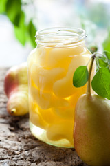 Canned pear compote