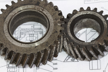 Interlocking industrial metal gears