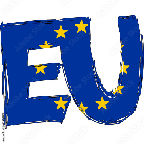 EU Flag Text