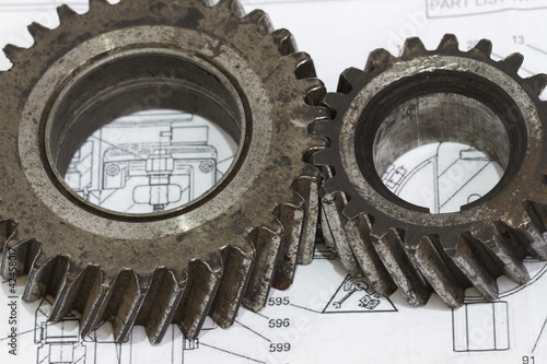 Interlocking industrial metal gears