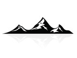 Mountain peaks, logo,icon,sign,vector
