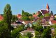 Village de zimmersheim, alsace , haut-rhin.