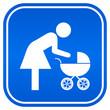 Mother restroom sqaure sign, vector illustration