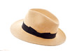 Panama hat isolated on white