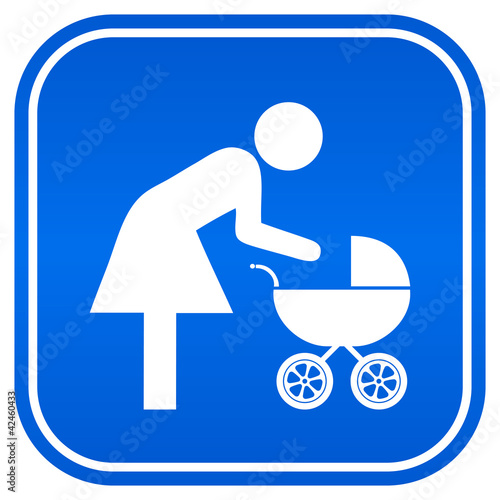 Mother restroom sqaure sign, vector illustration