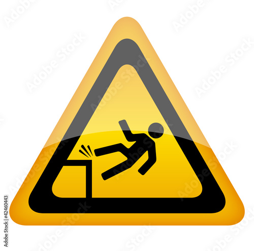 Vector fall danger sign