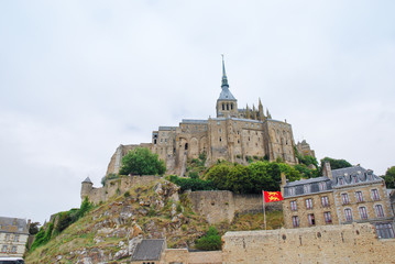 view on Mont Saint-Michel, France