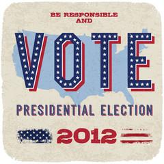 Presidential election 2012. Vector, eps10.