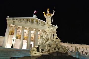 Austrian Parliament by night, Vienna