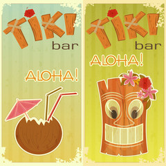 retro stickers for Tiki bars
