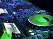 DJ CD player and mixer