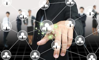 Man press social network