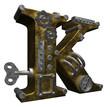 steampunk letter k