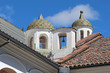 Domes at the church of San Francisco in Quito, Ecuador