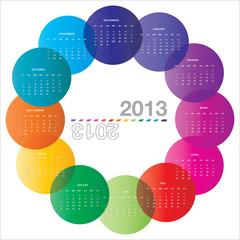 2013 arrondi calendrier FR
