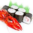 Sushi mit Flusskrebs