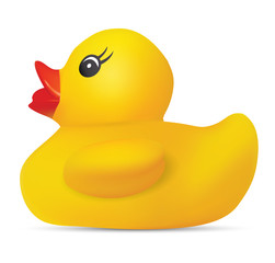 Realistic rubber duck