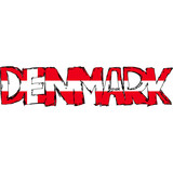 Danmark Flag Text poster