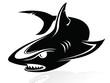 The vector image of a shark,logo,sign,vector,icon