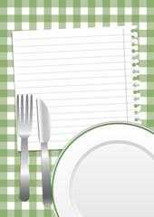 Green restaurant background