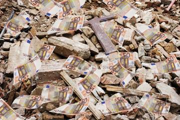 euro en ruinas
