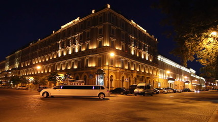 St. Petersburg, The Grand Hotel Europe and limousine