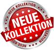 "Button Banner ""Neue Kollektion"" rot/silber"