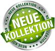 "Button Banner ""Neue Kollektion"" grün/silber"