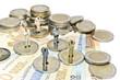 Leinwandbild Motiv Miniature euro businessmen