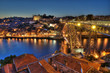 Porto at Night, Portugal.