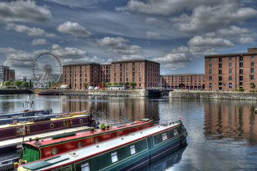 Canal Barges in Albert Dock, Liverpool.