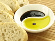 Olive oil with baguette