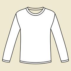 Blank long-sleeved T-shirt template