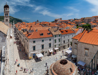 Main street of Dubrovnik's old town