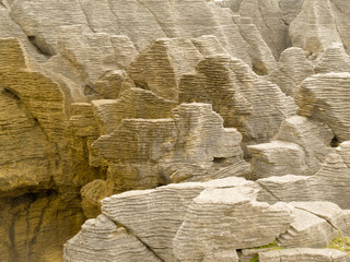 Background of Pancake Rocks of Punakaiki, NZ