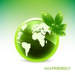 abstract colorful green glossy globe Vector