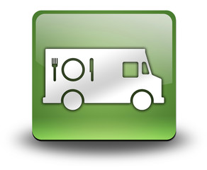 """Green 3D Effect Icon """"Food Truck"""""""