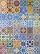 Set of 48 ceramic tiles patterns