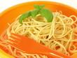 Pasta for children, closeup