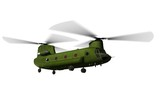 CH-47 Helicopter flying (matte)